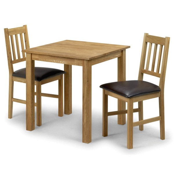 2018 Dining Set – Coxmoor Dining Table And 2 Chairs In Oak Cox901 For Dining Tables And 2 Chairs (View 4 of 20)