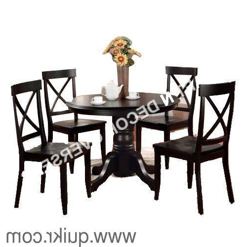 2018 Dining Table With 4 Chairskraft N Decor, Material – Sheesham Pertaining To Sheesham Dining Tables And 4 Chairs (Gallery 16 of 20)