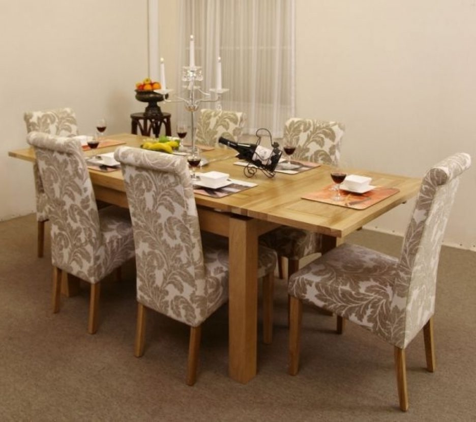 2018 Dining Tables Dining Room Sets With Fabric Chairs Fabric Inside Dining Tables And Fabric Chairs (View 15 of 20)