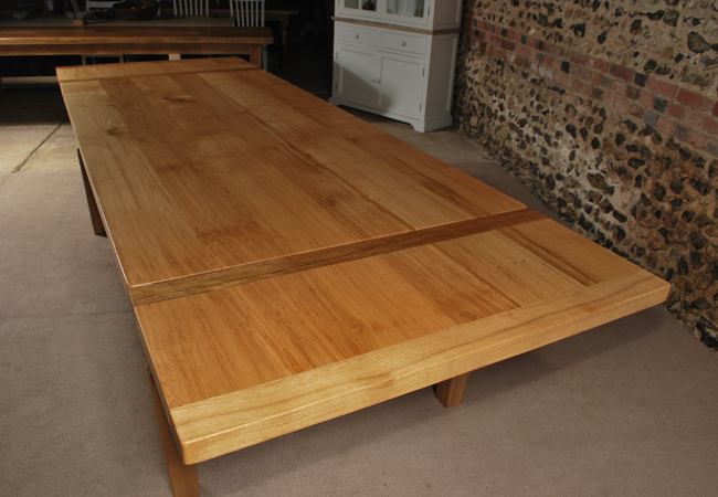 2018 Extending Oak Dining Tables Pertaining To Extending Oak Dining Table – The Oak And Pine Barn, Hampshire (Gallery 8 of 20)