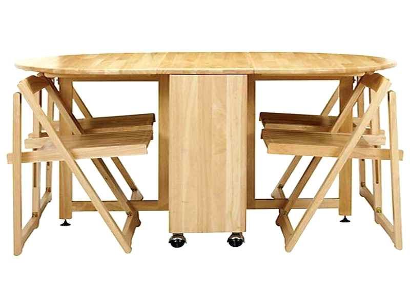 2018 Folding Dining Table And Chairs Sets With Regard To Folding Table With Chairs Inside Dining Table Folding Dining Table (View 5 of 20)