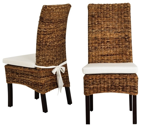 2018 Four Hands Banana Leaf Chair With Cushion – Tropical – Dining Chairs With Regard To Banana Leaf Chairs With Cushion (Gallery 1 of 20)