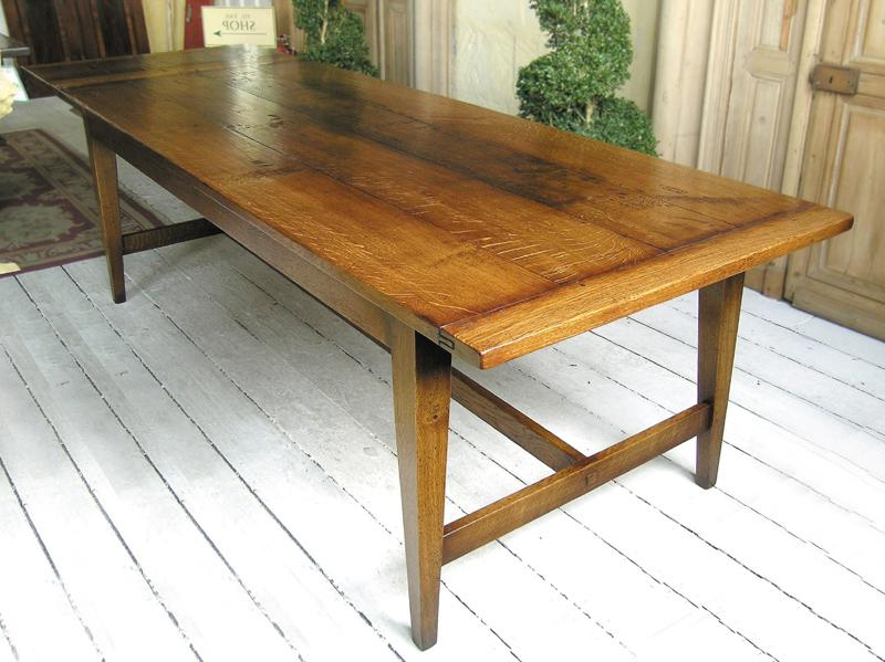 2018 French Farmhouse Dining Tables In French Farmhouse Style Oak Refectory Table (Gallery 17 of 20)