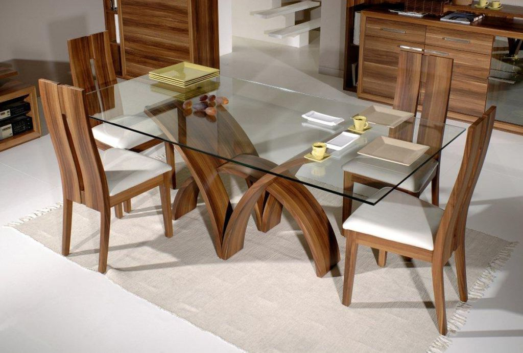 2018 Futuristic Wooden Dining Table Chairs Designs Intended For Dining Room Chairs Only (Gallery 20 of 20)