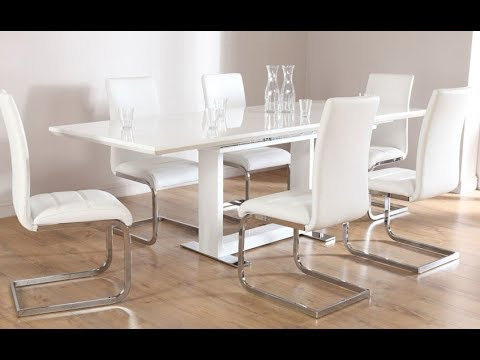 2018 Gloss White Dining Tables Regarding White Dining Table – White Gloss Dining Table – Marble Dining Table (View 13 of 20)