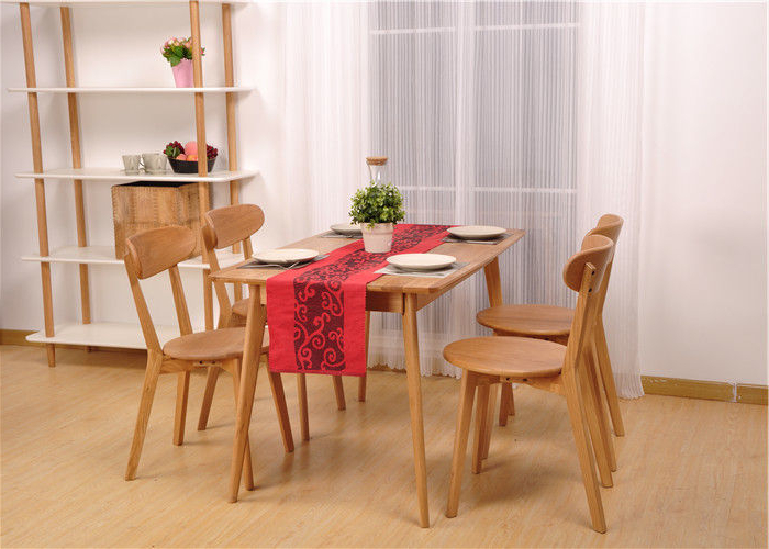 2018 Hardwood Oak Dining Table And Chairs , High Standard Rectangle With Parquet 6 Piece Dining Sets (View 1 of 20)