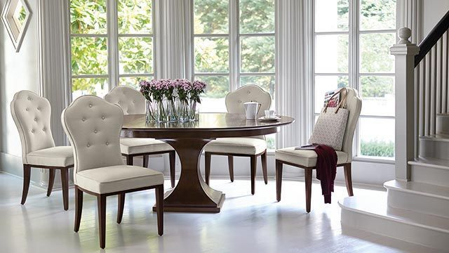 2018 Helms 7 Piece Rectangle Dining Sets With Side Chairs Within Kuolin Furniture Dining Room Tables (View 2 of 20)