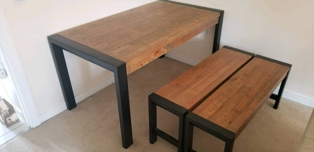 2018 Hudson Dining Table And Bench Set From Next (View 13 of 20)