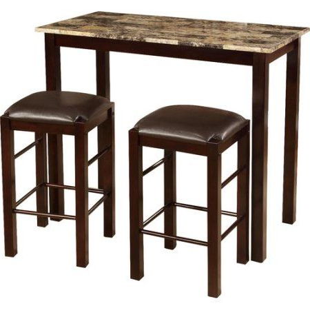 2018 Jaxon Grey 5 Piece Extension Counter Sets With Wood Stools Within Roundhill Furniture Brando 3 Piece Counter Height Breakfast Set (View 11 of 20)