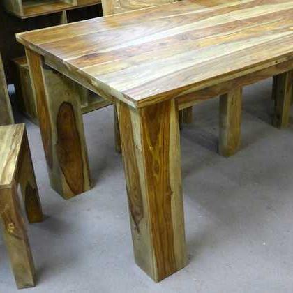 2018 Kota Sheesham Dining Table 90 X 90 – Jugs Furniture For Sheesham Dining Tables (View 3 of 20)