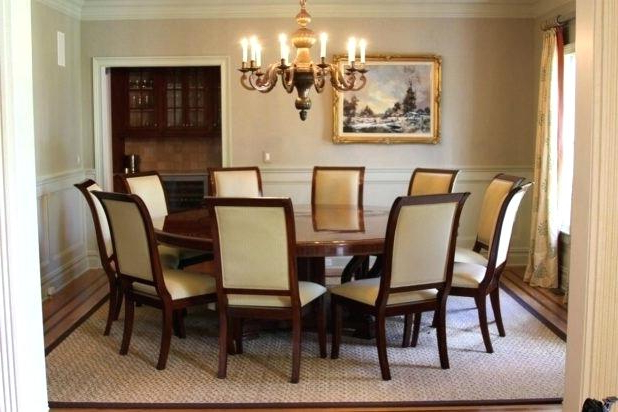 2018 Large Circular Dining Room Table And Chair Set Tables For Small Inside Large Circular Dining Tables (Gallery 18 of 20)