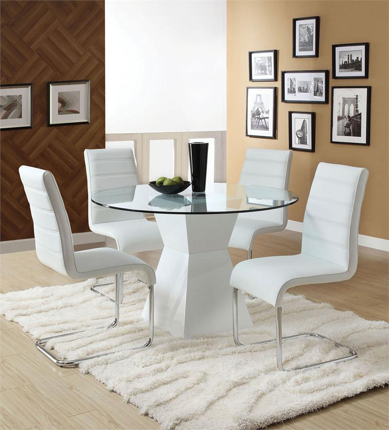 2018 Large Round Dining Table Glass : Ugarelay – The Most Comfortable With Regard To Large White Round Dining Tables (View 18 of 20)