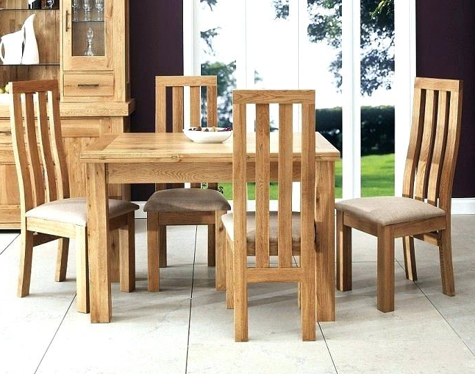 2018 Light Oak Dining Tables And Chairs For Oak Dining Table Chairs Uk – Long Computer Desk Crystalbank.club (Gallery 9 of 20)