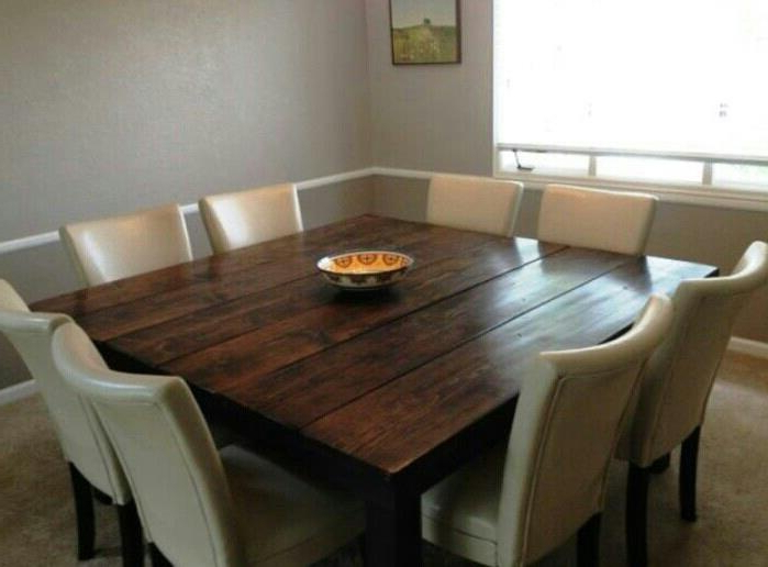 2018 Likeable Square Dining Table 8 Chairs Island Kitchen In Chair With Throughout Dining Tables Set For (View 19 of 20)