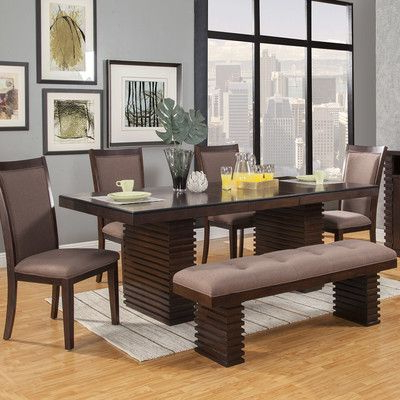 2018 Logan 6 Piece Dining Sets Inside Wade Logan Loeffler 6 Pieces Dining Set (View 2 of 20)