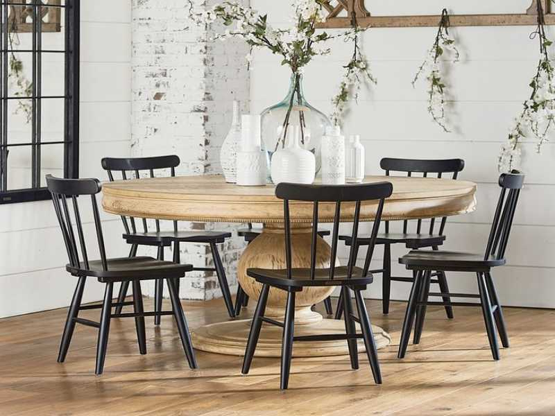 2018 Magnolia Home Shop Floor Dining Tables With Iron Trestle Regarding Vintage Magnolia Home Dining Table : Donosti Knit Design – Ideas To (View 2 of 20)