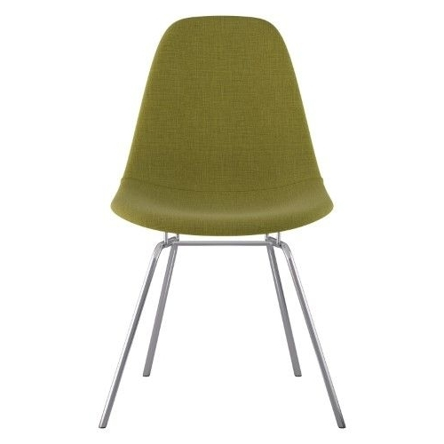2018 Mallard Side Chairs With Cushion Regarding Nyekoncept Mid Century Classroom Dining Side Chair, Brushed Gunmetal (View 16 of 20)