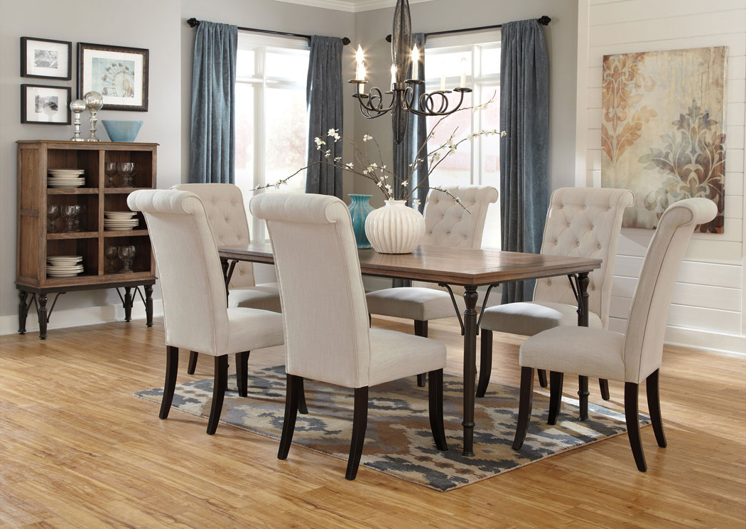 2018 Market 6 Piece Dining Sets With Side Chairs Regarding Alabama Furniture Market Tripton Rectangular Dining Table W/6 Side (Gallery 2 of 20)