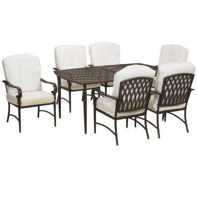 2018 Market 7 Piece Dining Sets With Host And Side Chairs Inside Patio Dining Sets – Patio Dining Furniture – The Home Depot (Gallery 13 of 20)