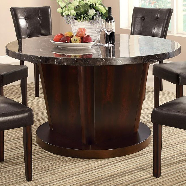 2018 Milton Round Dining Table W/ Dark Marble Top Coaster Furniture For Milton Dining Tables (View 1 of 20)