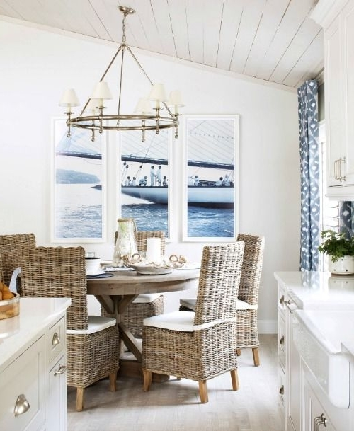 2018 Nautical Living With Navy Blue, White & Natural Textures (View 5 of 20)