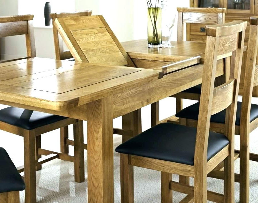 2018 Oak Extending Dining Sets Intended For Outstanding Exceptional Solid Oak Extending Dining Table And (View 14 of 20)