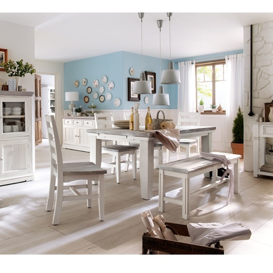 2018 Opal Extendable Dining Table 4 Chairs And Bench In White With Regard To Extendable Dining Table And 4 Chairs (View 3 of 20)