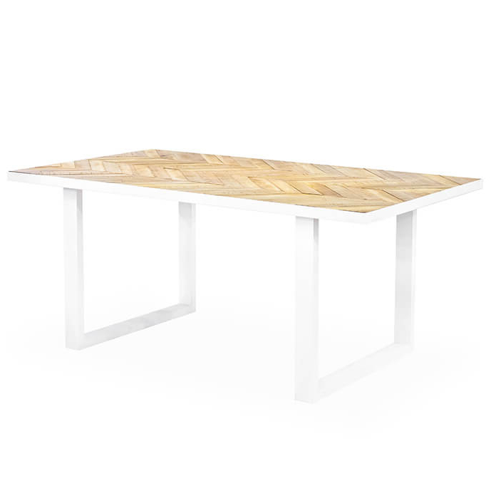 2018 Parquet Dining Tables Pertaining To Parquet Modern Rectangular Dining Table (Gallery 2 of 20)