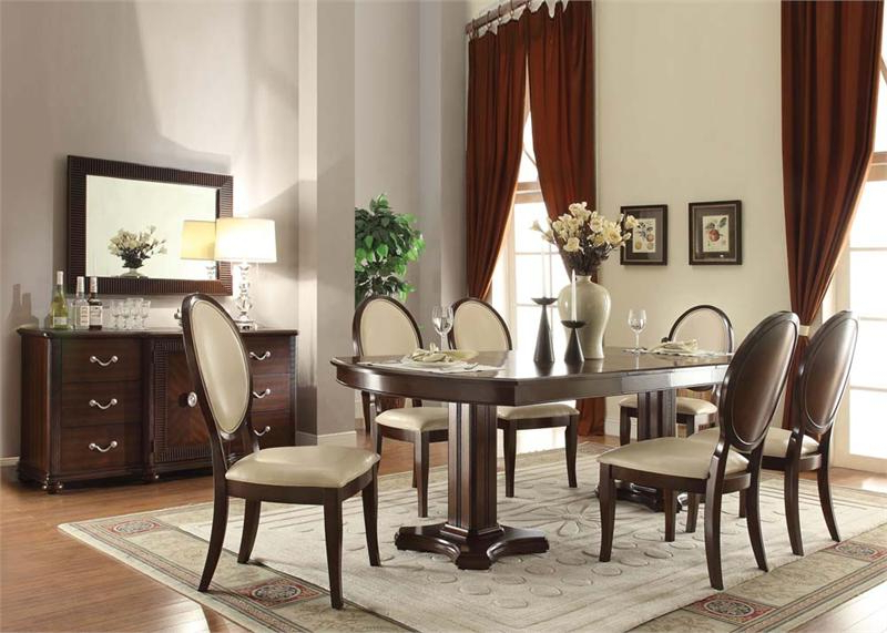 2018 Pedestal Dining Tables And Chairs With Regard To Balint Double Pedestal Dining Collection 71260 Acme (Gallery 7 of 20)