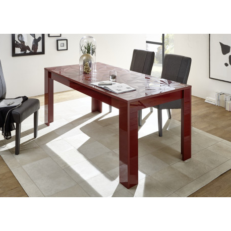 2018 Prisma Decorative Red Gloss Dining Table – Dining Tables (3462 Regarding Red Gloss Dining Tables (Gallery 10 of 20)