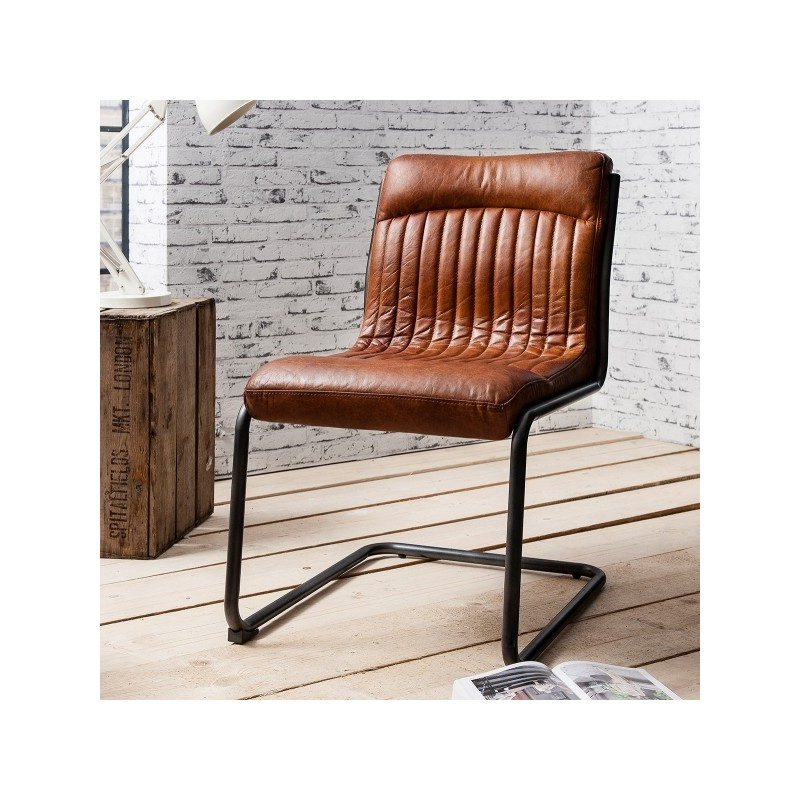 2018 Real Leather Dining Chairs For Vintage Leather Dining Chair (View 1 of 20)