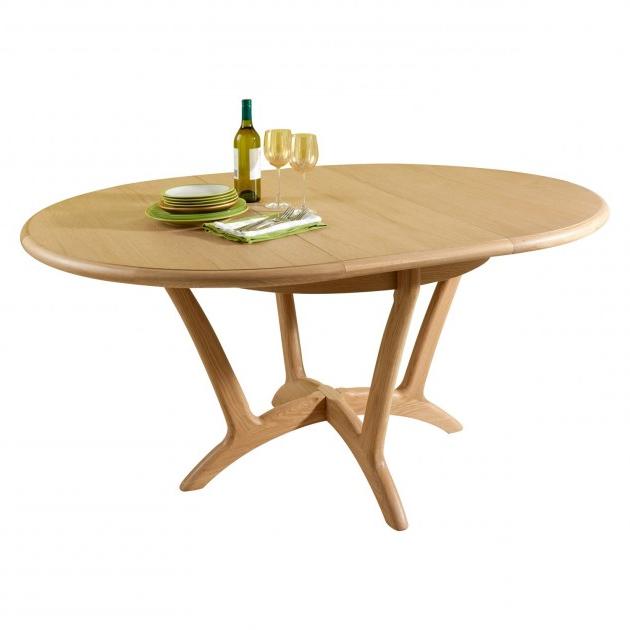 2018 Round Extending Dining Tables Regarding Stockholm Dining Round Extending Dining Table (View 2 of 20)