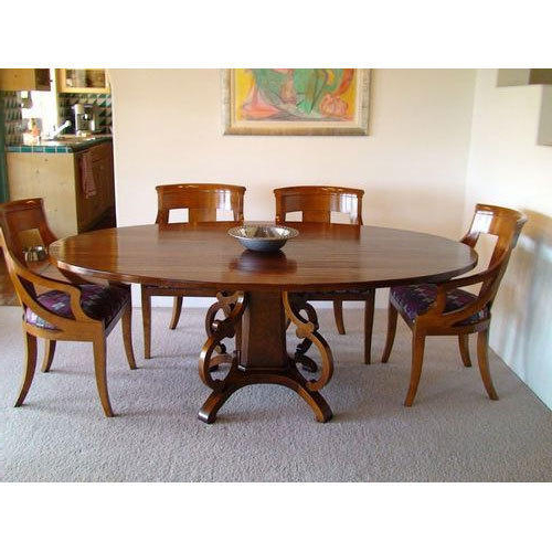 2018 Round Shape Dining Table Set, Wooden Dining Tables – M M Enterprises Regarding Wood Dining Tables (View 6 of 20)