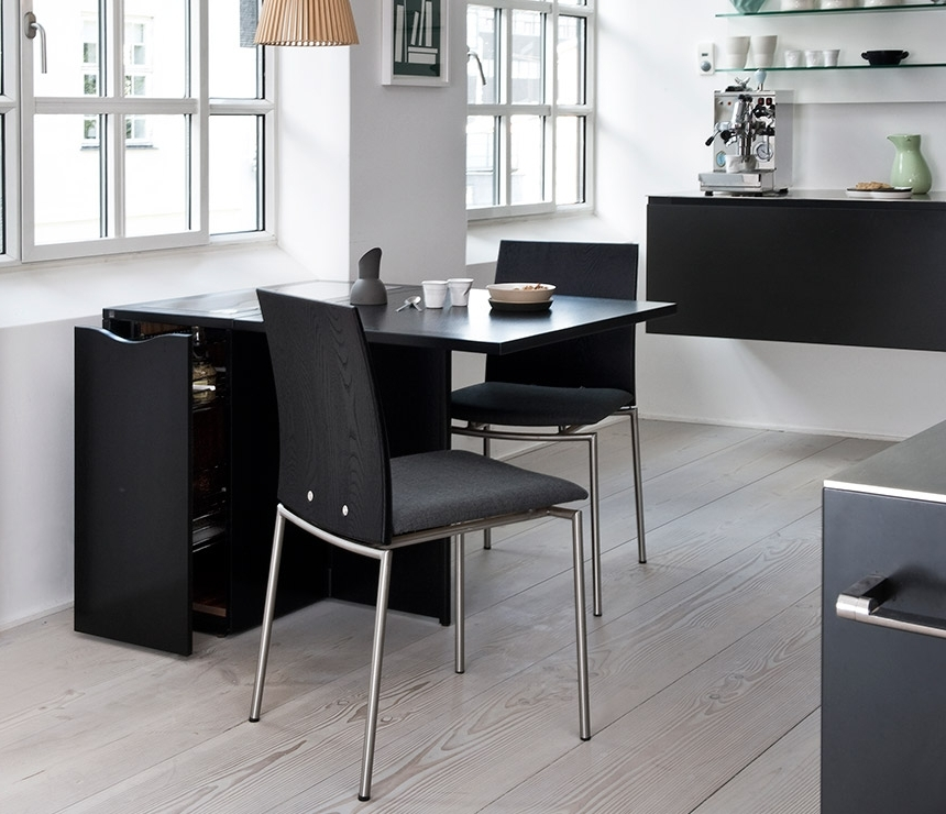 2018 Space Saving Compact Gateleg Table – Skovby A1101 – Wharfside For Compact Dining Room Sets (View 16 of 20)