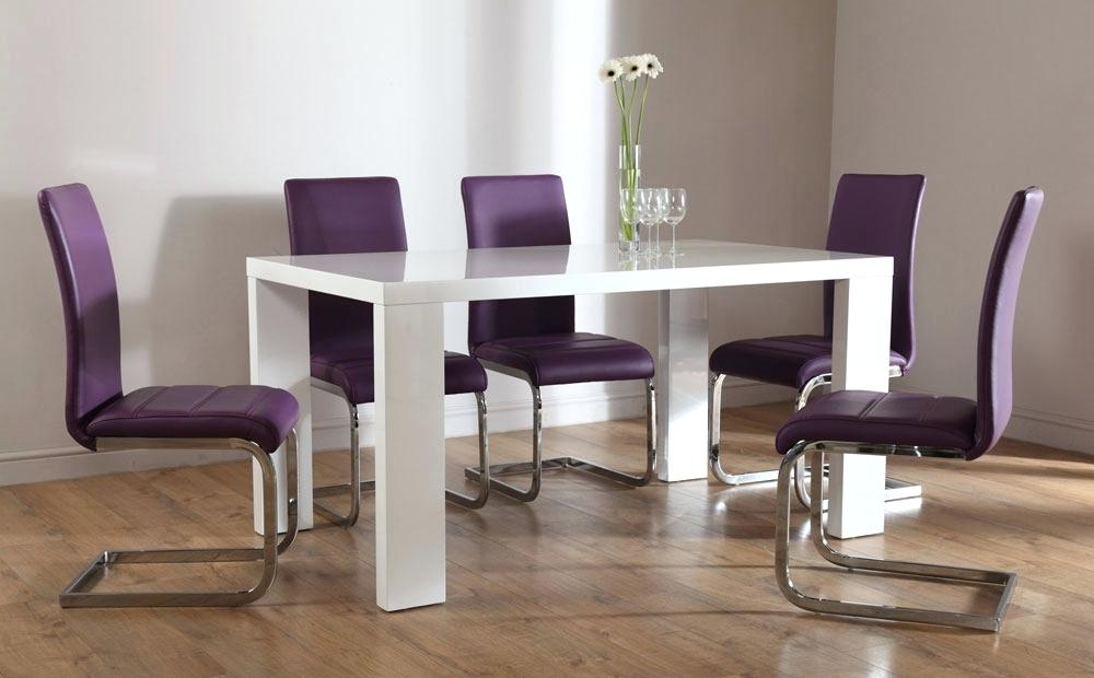 2018 Suede Dining Room Chairs Faux Leather Parsons Dining Room Chairs For Purple Faux Leather Dining Chairs (View 20 of 20)