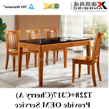 2018 T228+C317, China For Sri Lanka Modern Style Durable Glass Dining With Regard To Modern Dining Suites (Gallery 17 of 20)