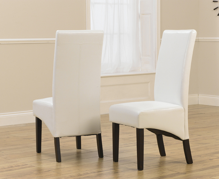 2018 Verona Dark Ivory Faux Leather Dining Chair With Dark Brown Legs (A In Ivory Leather Dining Chairs (Gallery 5 of 20)