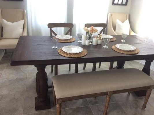 2018 World Market Greyson Dining Table, Target Chairs, Overstock Bench Regarding Market Dining Tables (Gallery 4 of 20)