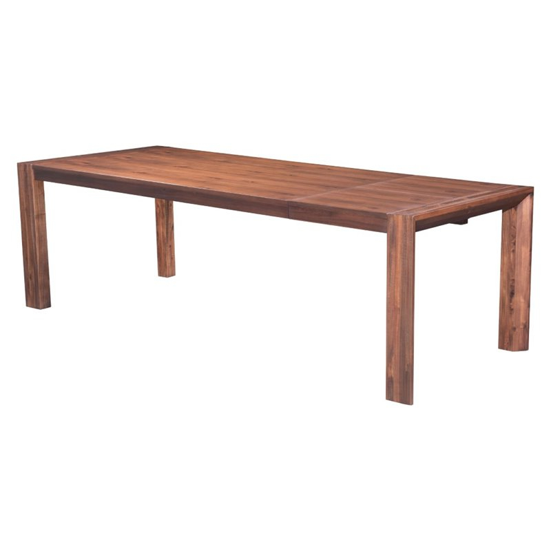 2018 Zuo Perth Extendable Dining Table In Chestnut – 100588 Within Perth Dining Tables (View 5 of 20)