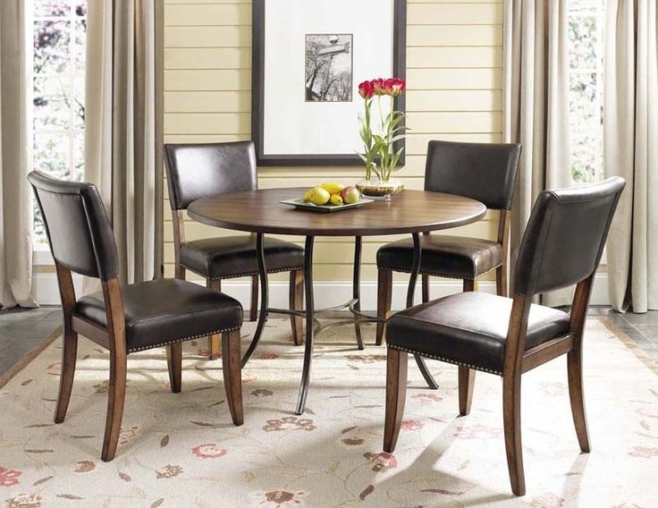 Featured Photo of Bale Rustic Grey 7 Piece Dining Sets With Pearson White Side Chairs