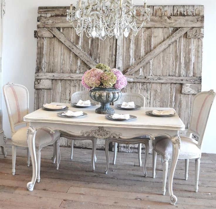 25 Best Ideas About French Dining Tables On Pinterest, Shabby Chic Pertaining To Best And Newest Shabby Chic Cream Dining Tables And Chairs (View 7 of 20)