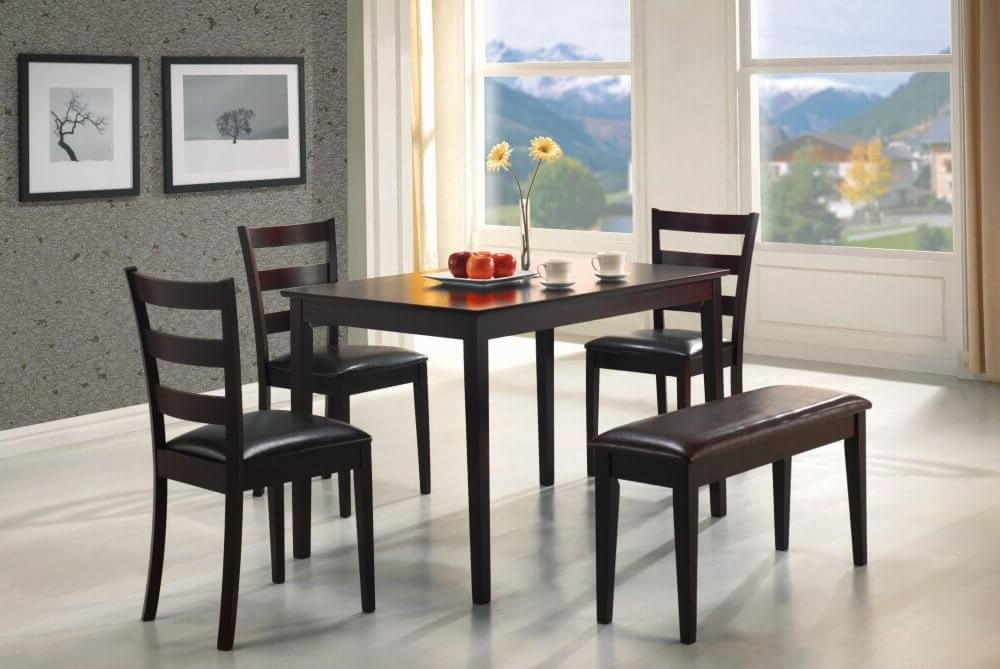 26 Dining Room Sets (big And Small) With Bench Seating (2018) Within Latest Small Dining Tables And Bench Sets (View 4 of 20)