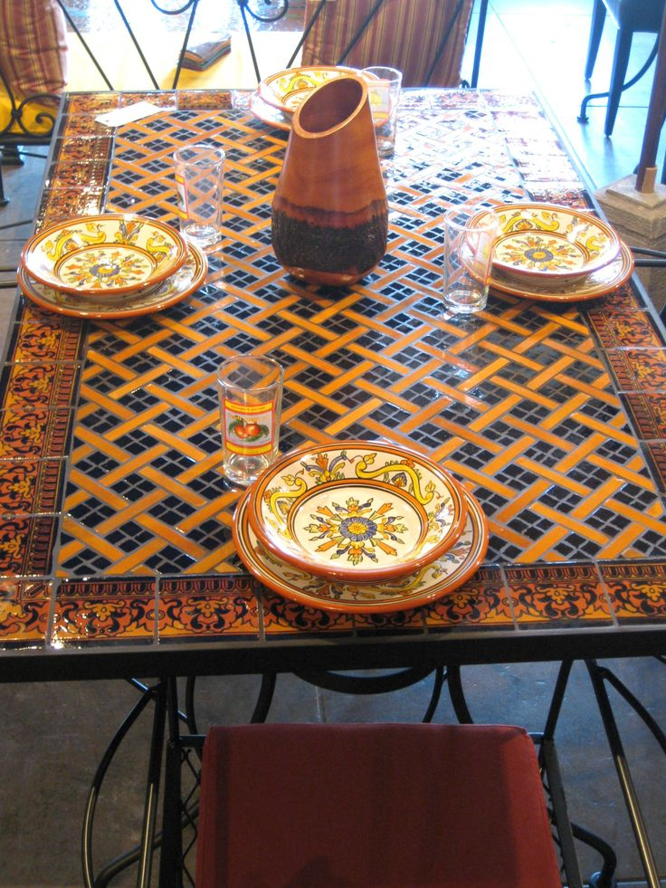 Featured Photo of Mosaic Dining Tables For Sale