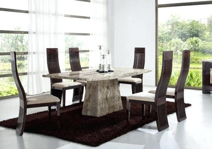 3. Solid Marble Dining Room Table Gallery Dining Table Set Designs Throughout Best And Newest Solid Marble Dining Tables (Gallery 16 of 20)