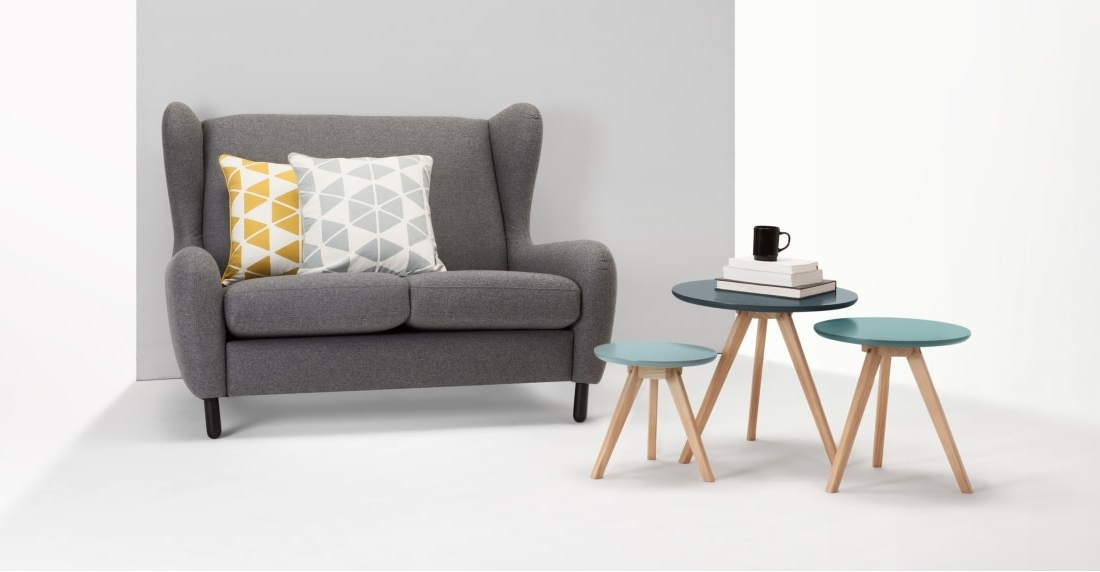 3 X Orion Side Tables, Blue (View 1 of 20)