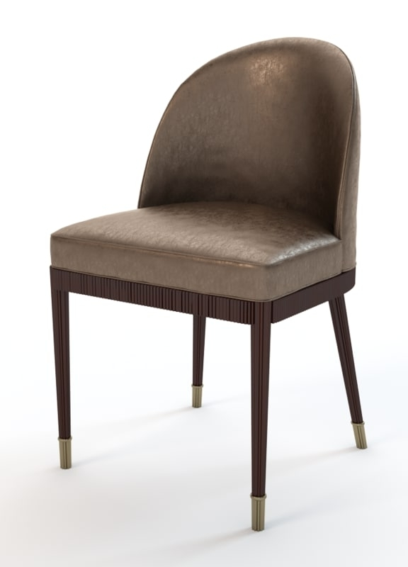 3ds Laurent Dining Chair Pertaining To Current Laurent Wood Side Chairs (View 13 of 20)