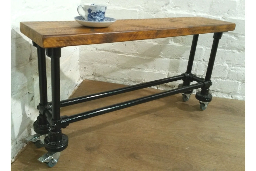 3Ft Industrial Scaffold Rustic Vintage Reclaimed Pine Dining Table With Well Known 3Ft Dining Tables (View 5 of 20)