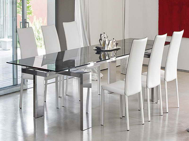 4. Image Of Contemporary Glass Dining Room Table Sets Inside Best And Newest Glass Dining Tables Sets (Gallery 16 of 20)