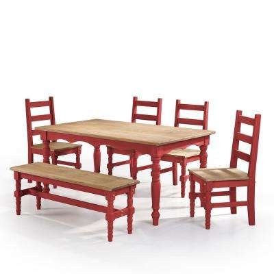 4 Legs – Bench Seating – Red – Dining Room Sets – Kitchen & Dining Inside Famous Red Dining Table Sets (View 2 of 20)