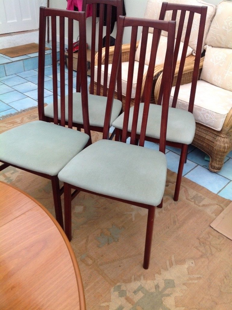 4 Mahogany Dining Chairs, Morris Of Glasgow (View 19 of 20)